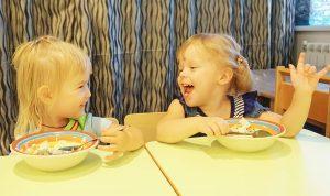 Завтрак в детском саду Алфавит